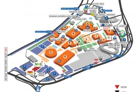 Brno Exhibits Center - map